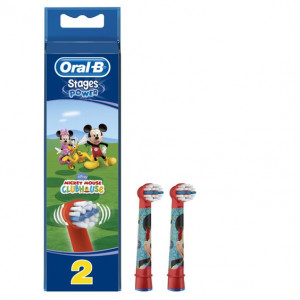 Diş fırçası başlığı ORAL-B EB50 EB10 2ct Kids Prn-Car-Mic Brush Set