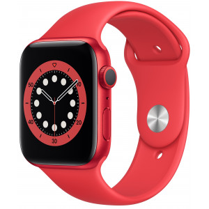 Smart Saat Apple Series 6 44mm Red