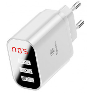 Adapter Baseus Mirror Travel 3USB 3.4A White