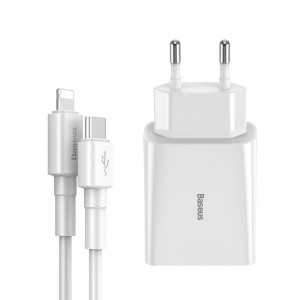 Adapter Baseus Type-C Quick Charger 18W White