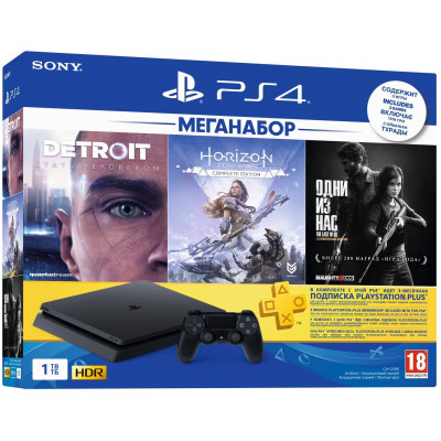 PlayStation 4 1TB Slim + HZD, Detroit, TLoUS